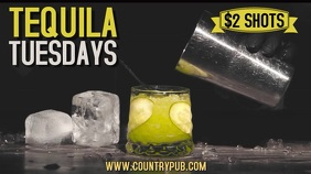 Tequila Tuesdays Happy Hour Digital Template