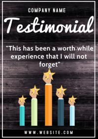 Testimonials flyer A3 template