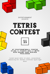 Tetris Contest Flyer Design Template