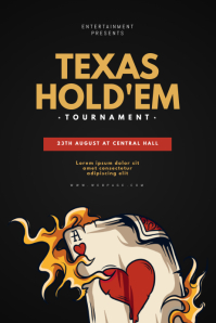 Texas Hold'em Poker Flyer template
