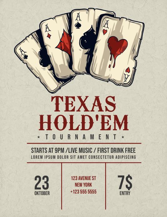 Texas Hold'em Poker Flyer template