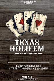Texas holdem poker night flyer template