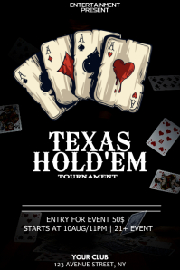 Texas holdem poker night flyer template Poster