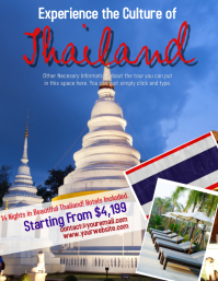 Thailand Tour Travel Flyer Template
