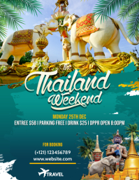 Thailand Travel Flyer Template Pamflet (Letter AS)