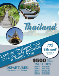 Thailand Travel Flyer Template