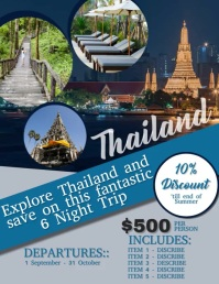Thailand Travel Flyer VIDEO DIGITAL Template