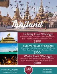 Thailand Travel Poster Video Flyer Template