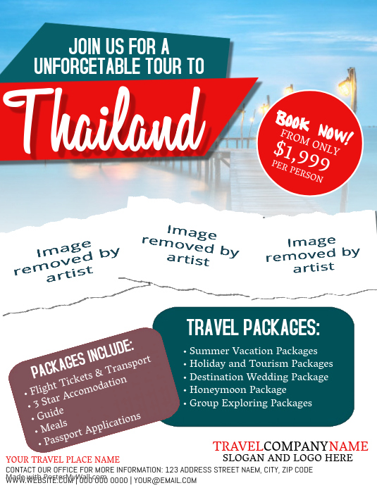 Thailand Travel Tour Flyer Template