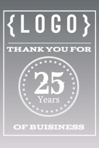 Thank you, celebrating sign