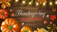 Thank you,thanks giving,event,autumn Blog overskrift template