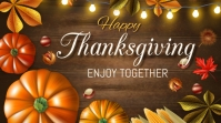 Thank you,thanks giving,event,autumn Post di Twitter template