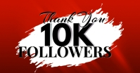 Thank You 10K Followers on Facebook Template