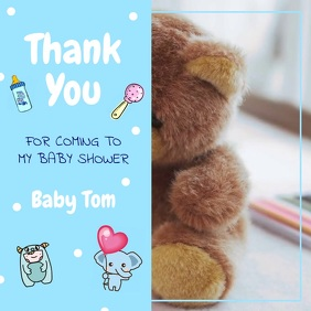 Thank you Baby Shower Square Video