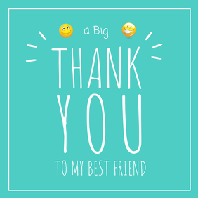 Thank you Best Friend Card Instagram Post