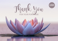 Thank You Business Postcard Carte postale template