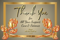 Thank You Card Poster template