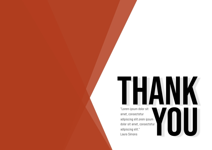 thank you card A6 template