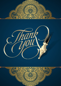 Thank You Card A4 template