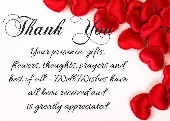 Thank You Card Visitekaartje template