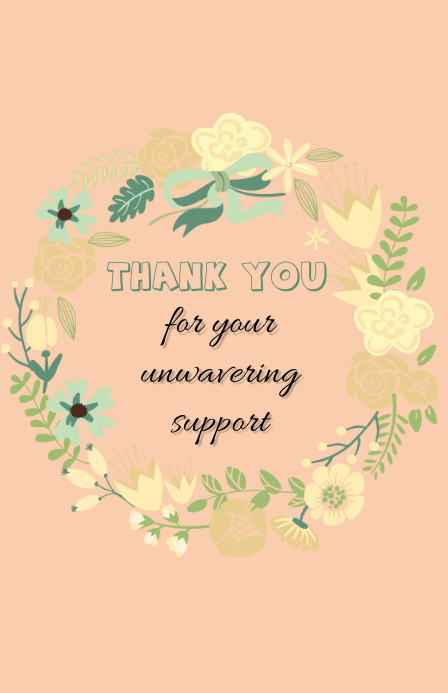 thank you card Tabloid template