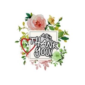 THANK YOU CARD Logo template