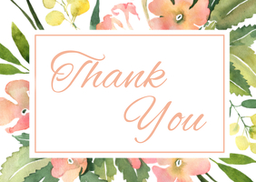 Thank You Card Postal template