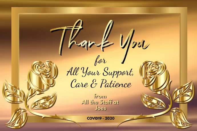 Thank You Card 海报 template