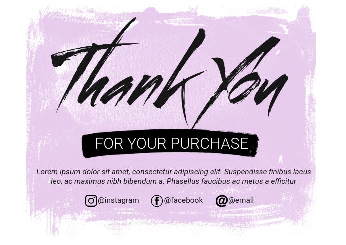 Thank You Card Poskaart template