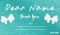 Thank you card Tag template