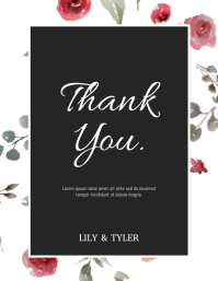 Thank You Card Flyer (US Letter) template
