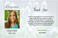 Thank You Card Etiket template