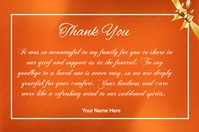 Thank You Card Etiqueta template