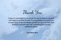 Thank You Card Label template