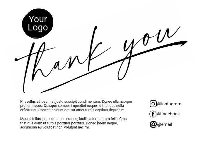 Thank You Card Postkort template