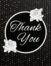 thank you card FLYER TEMPLATE