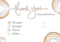 Thank You Card for Small Business Postkarte template