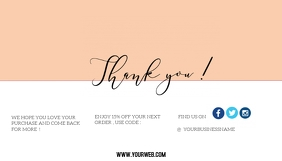 thank you card for small business Kartu Bisnis template