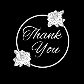 thank you card social media TEMPLATE