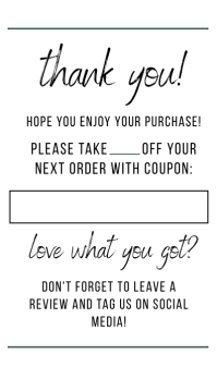 thank you card template 1.0 Biglietto da visita