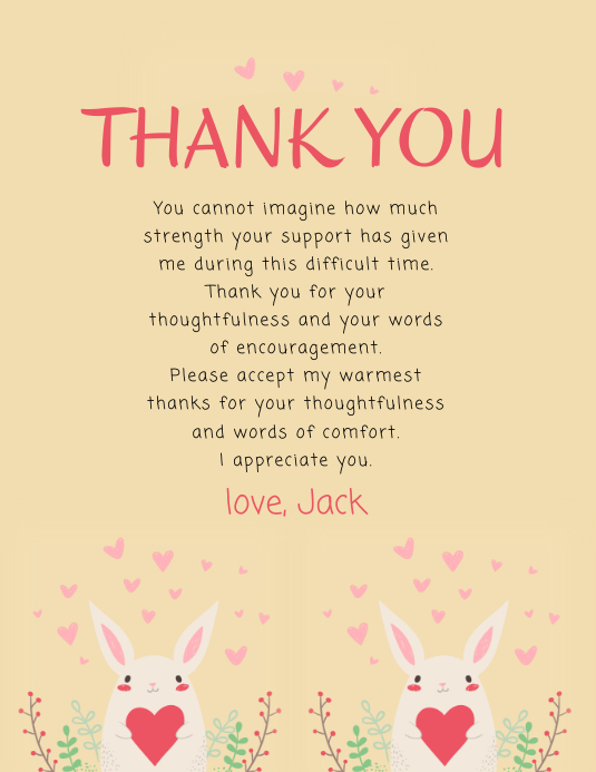 Thank You Card Template Postermywall