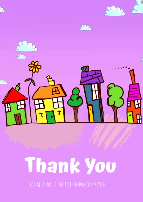 Thank you card video A6 template