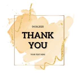 THANK YOU CARD WISHES DESIGN Template Square (1:1)