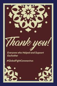 Thank you Coronavirus Health heros Template