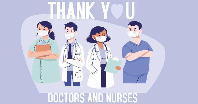 Thank you Doctors, Nurses Facebook Shared Image template