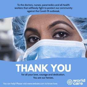 Thank You Doctors and Nurses Covid-19 fight