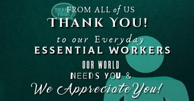 Thank You Essential Workers Facebook Image template