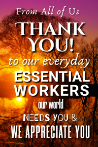 Thank You Essential Workers Poster
