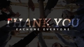 Thank You Everyone for Support Video template