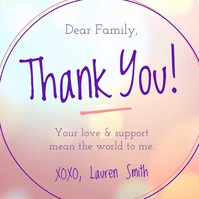 Thank you Family Square Video Quadrat (1:1) template